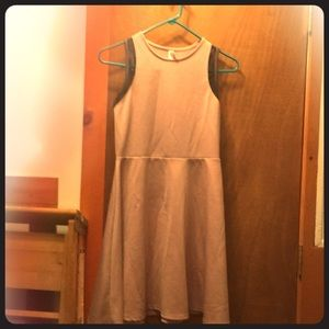 Pale pink empire waist sundress